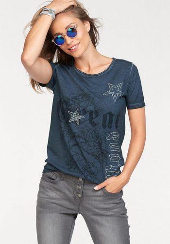 Damen Aniston by BAUR T-Shirt mit Glanzsteinchen verziert – NEUE KOLLEKTION blau | 08699050282577