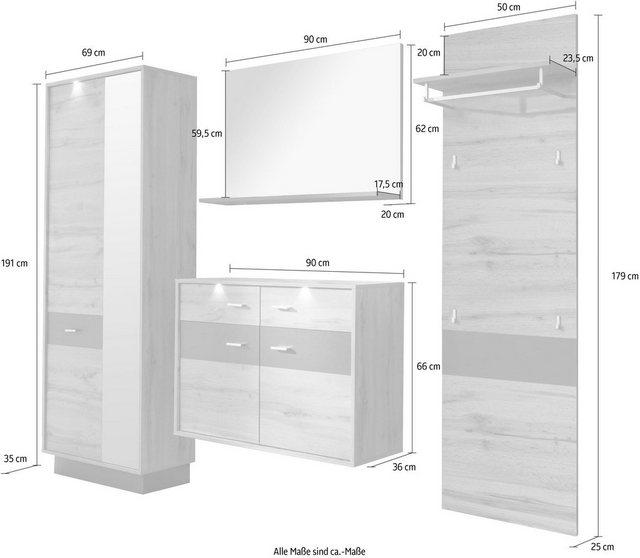 Garderoben Sets - trendteam Garderoben Set »Coast«, (Set, 4 tlg)  - Onlineshop OTTO