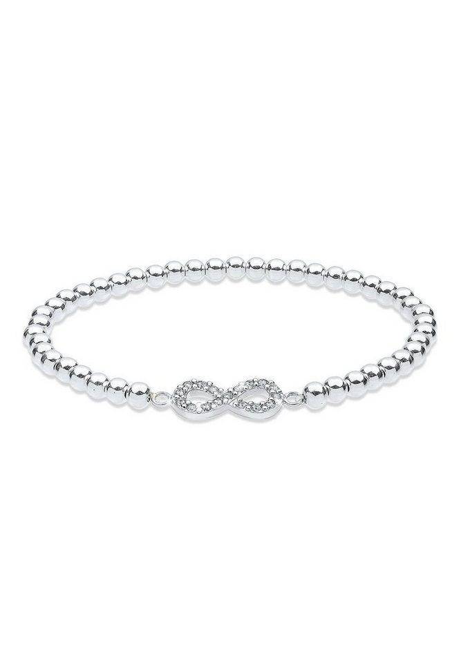 Elli Armband »Infinity Swarovski® Kristalle 925 Silber Liens«   Schmuck > Armbänder > Silberarmbänder   Weiß   Elli
