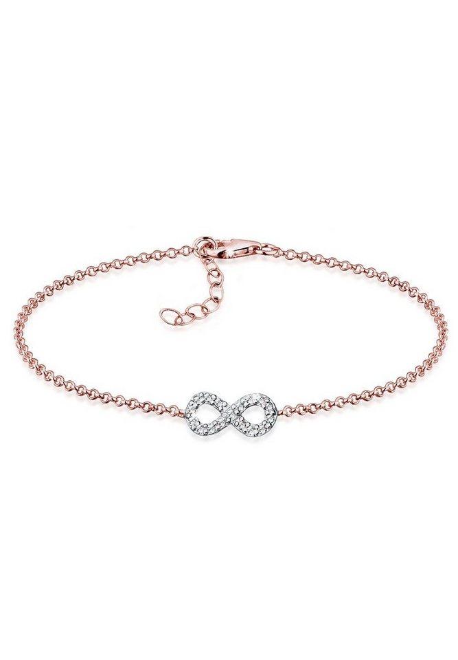9345f1ff86dd Elli Armband »Infinity Bi-Color Swarovski® Kristalle Silber« online ...