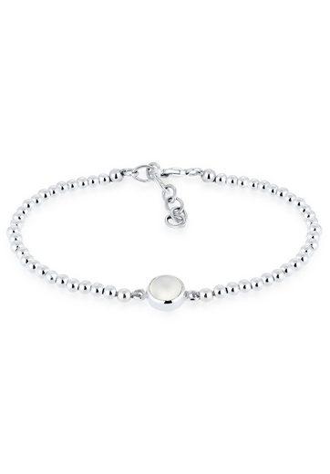 Elli Armband »Mondstein Kugel Rund 925 Sterling Silber«