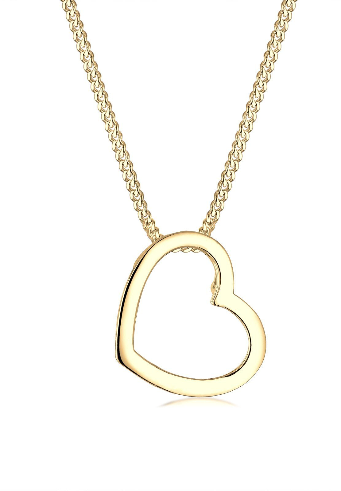 Elli Collierkettchen »Herz Liebe 925 Sterling Silber«