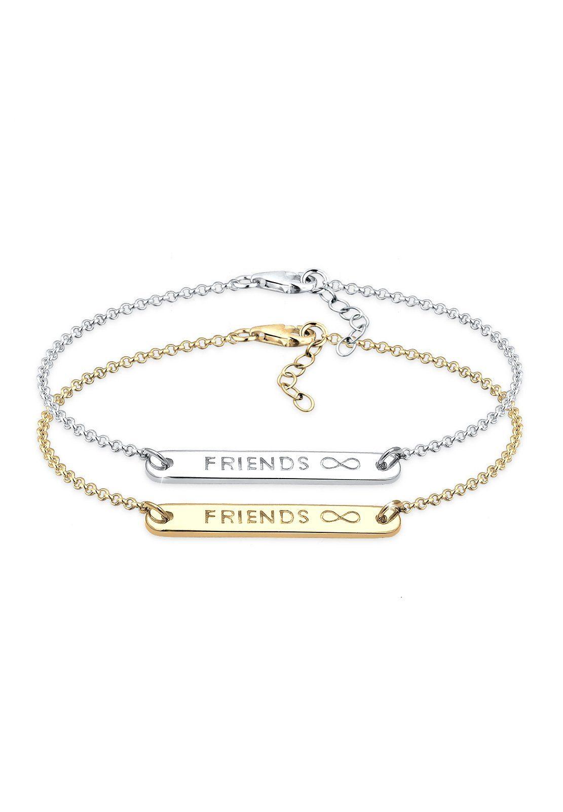 Elli Armband Set »Set: Infinity Freundschaft Set Bi-Color Silber« (Set, 2 tlg)