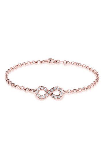 Elli Bettelarmband »Infinity Swarovski® Kristalle 925 Silber Unita«