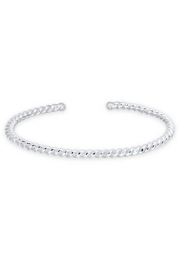 Elli Armreif »Basic Bangle Gedreht Braided 925 Sterling Silber«