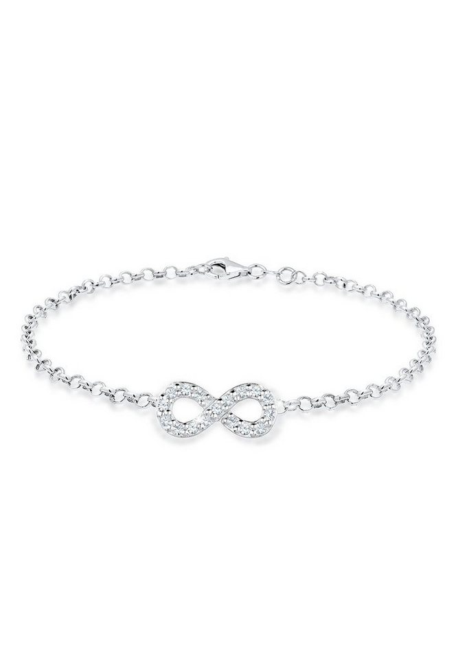 Elli Bettelarmband »Infinity Swarovski® Kristalle 925 Silber Unita« | Schmuck > Armbänder > Silberarmbänder | Elli