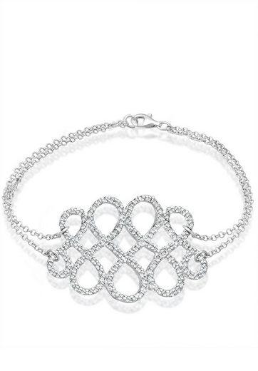 Elli Armband »Knoten Swarovski® Kristalle 925 Sterling Silber«