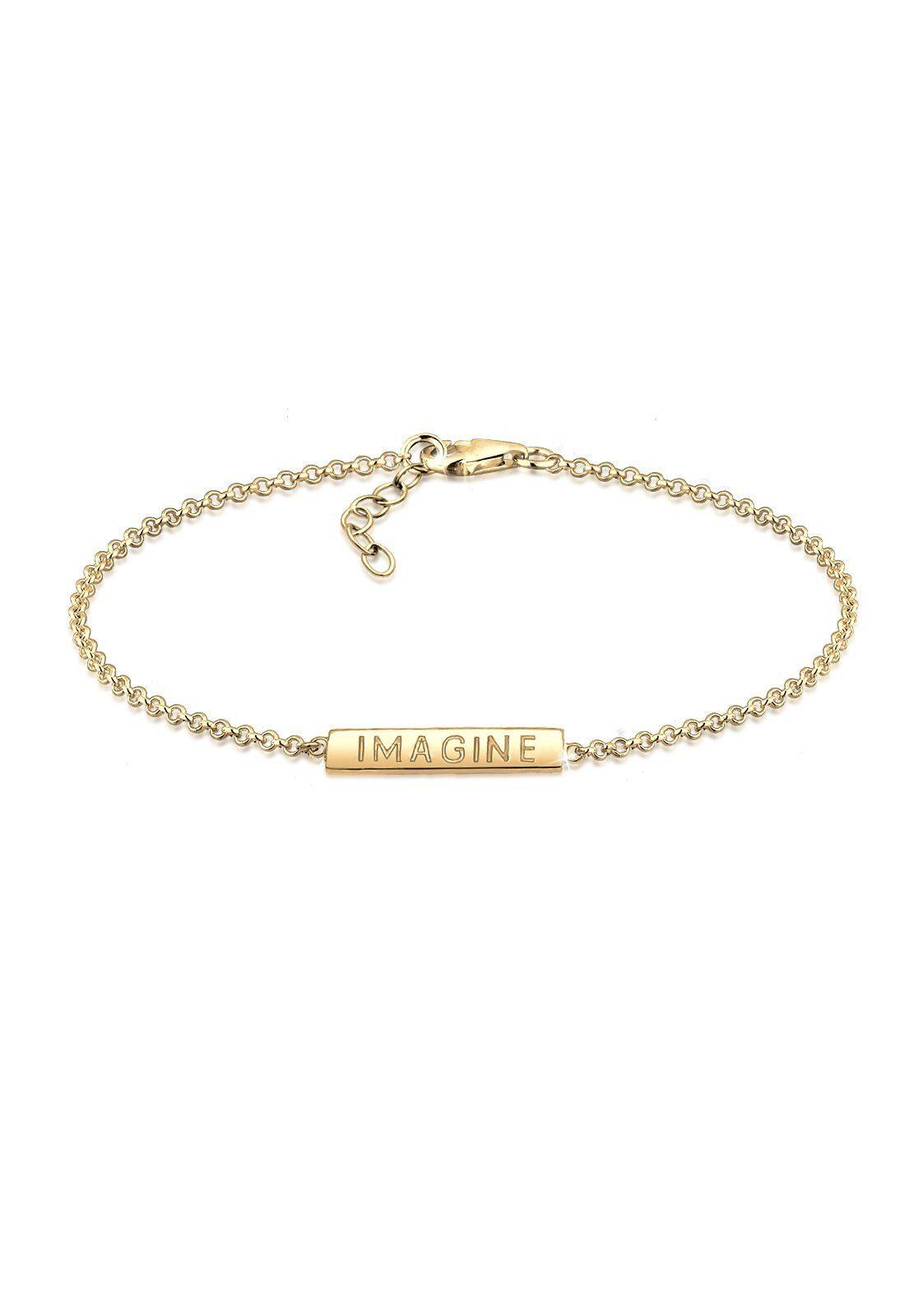 Elli Armband »Imagine Schriftzug Wording 925 Sterling Silber«