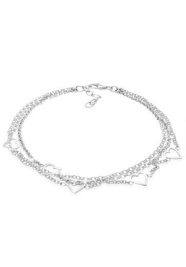 Elli Armband »3-Lagig Herz Symbol Liebe 925 Sterling Silber«
