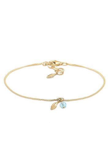 Elli Armband »Feder Bead Kristalle 925 Silber«