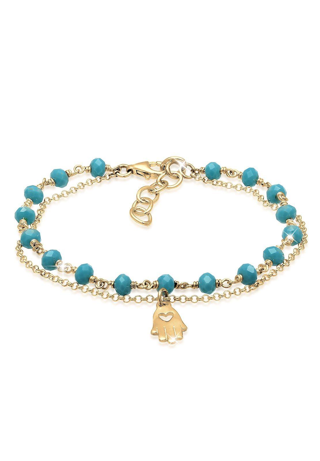 Elli Armband »Hamsa Hand Bead Layer 925 Sterling Silber«   Schmuck > Armbänder > Silberarmbänder   Silber   Elli