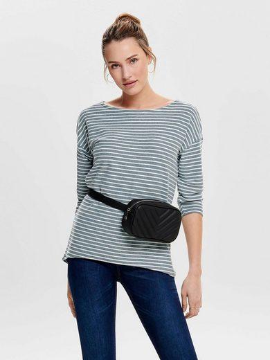 Only 3/4-Arm-Shirt »ONLELLY« mit gestreifter Struktur