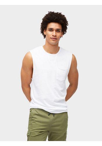 Herren Tom Tailor Denim T-Shirt Schlichtes Top weiß | 04060868155195
