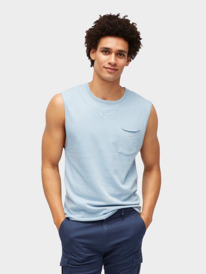 Herren TOM TAILOR Denim  T-Shirt Schlichtes Top blau | 04060868155188