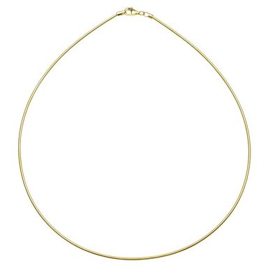 OSTSEE-SCHMUCK Halsreif »Omega 1,7 mm Silber 925/000, vergoldet«