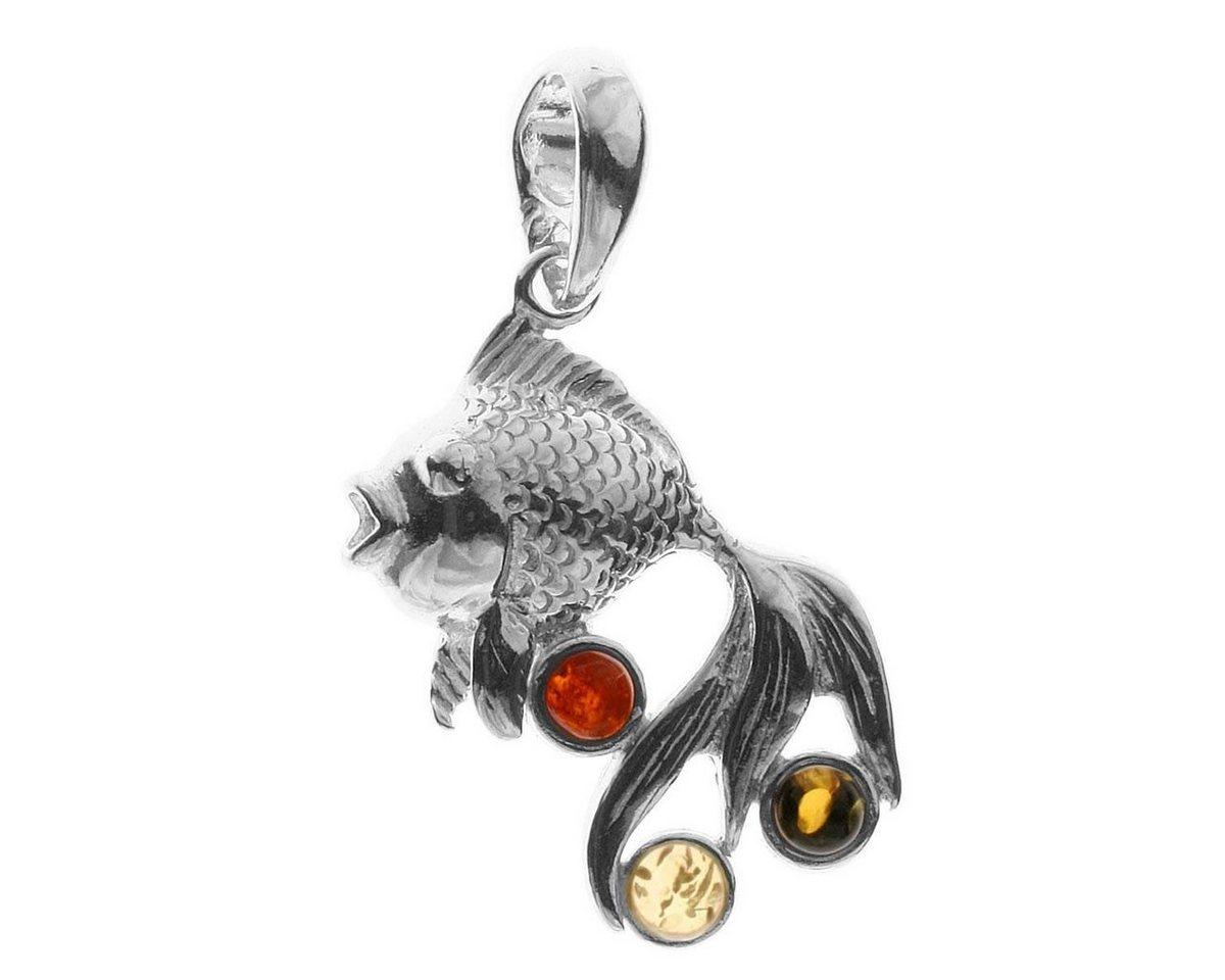 OSTSEE-SCHMUCK Kettenanhänger »Fisch Silber 925/000 Bernstein« | Schmuck > Halsketten > Ketten ohne Anhänger | Weiß | OSTSEE-SCHMUCK