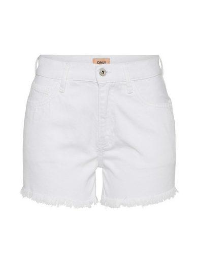 Only Jeanshotpants »onlDIVINE« Fransensaum
