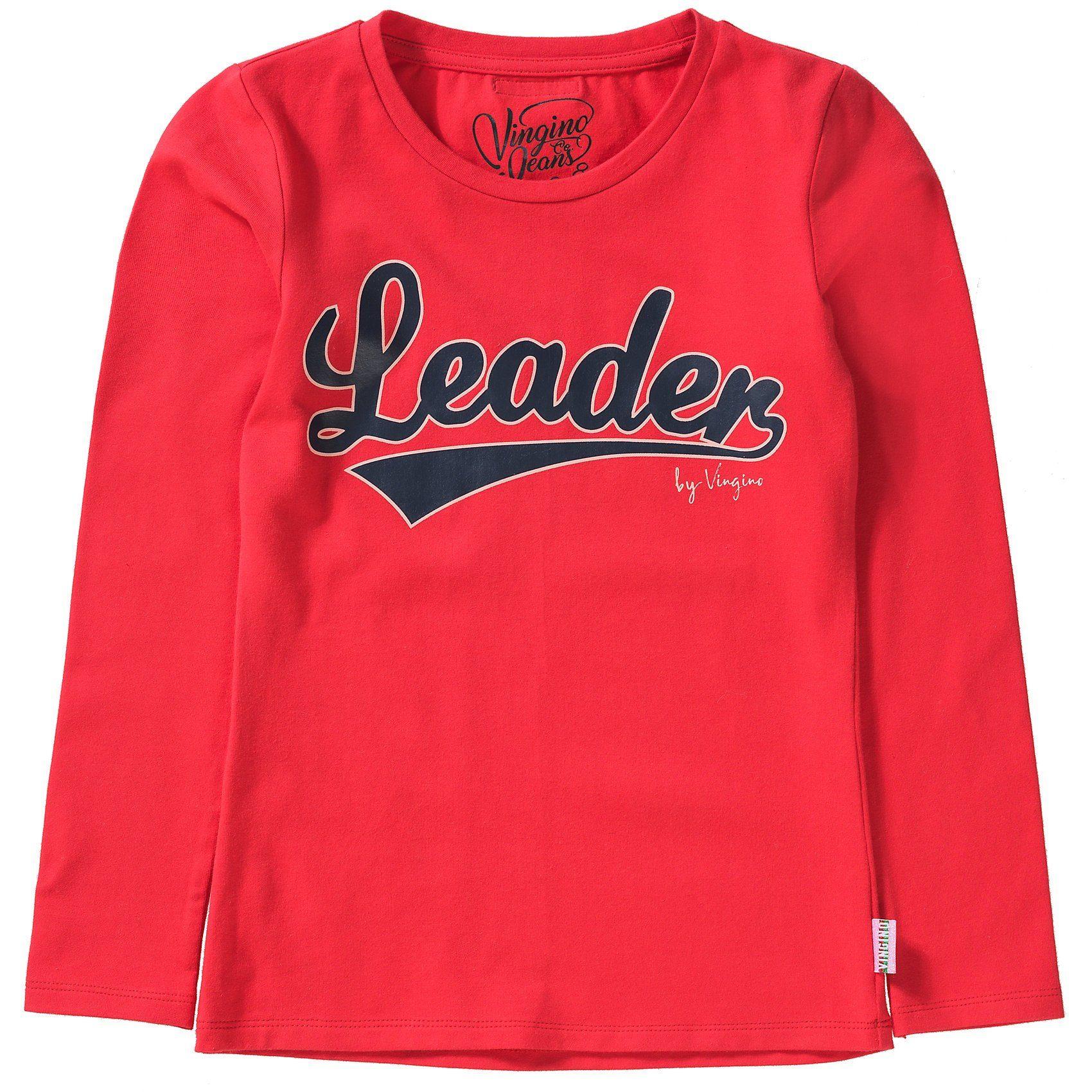 Damen,  Mädchen,  Kinder Vingino Langarmshirt JACE für Mädchen rot   08719204851388