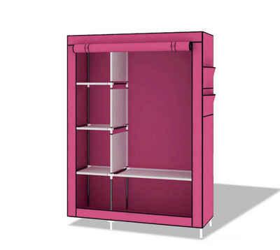 H-basics Kleiderschrank »Stoffschrank 105x45x170 cm Faltschrank Kleiderschrank mit Seitentaschen, Regalen und Kleiderstange für Indoor und Outdoor«