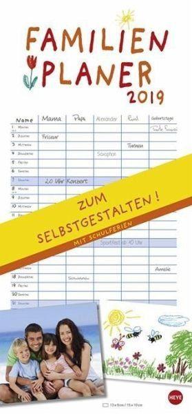 Kalender »Familienplaner zum Selbstgestalten 2019«