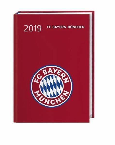 Broschiertes Buch »FC Bayern München 17-Monats-Kalenderbuch A6 2019«