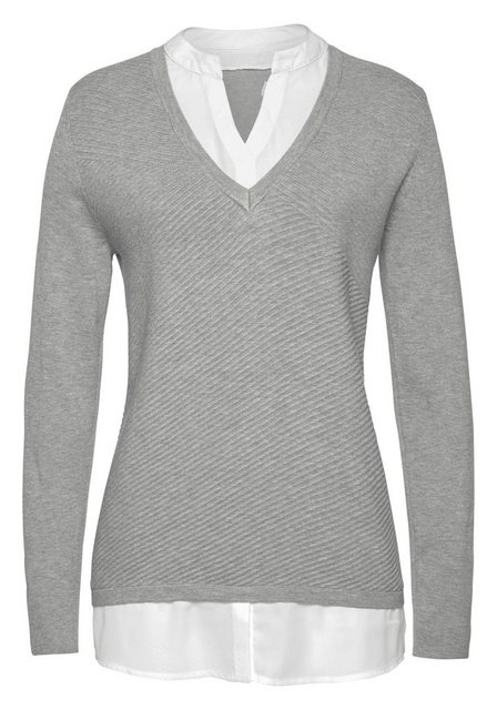 Aniston SELECTED 2-in-1-Pullover in effektvollem Lagenlook | Bekleidung > Pullover > 2-in-1 Pullover | Aniston SELECTED