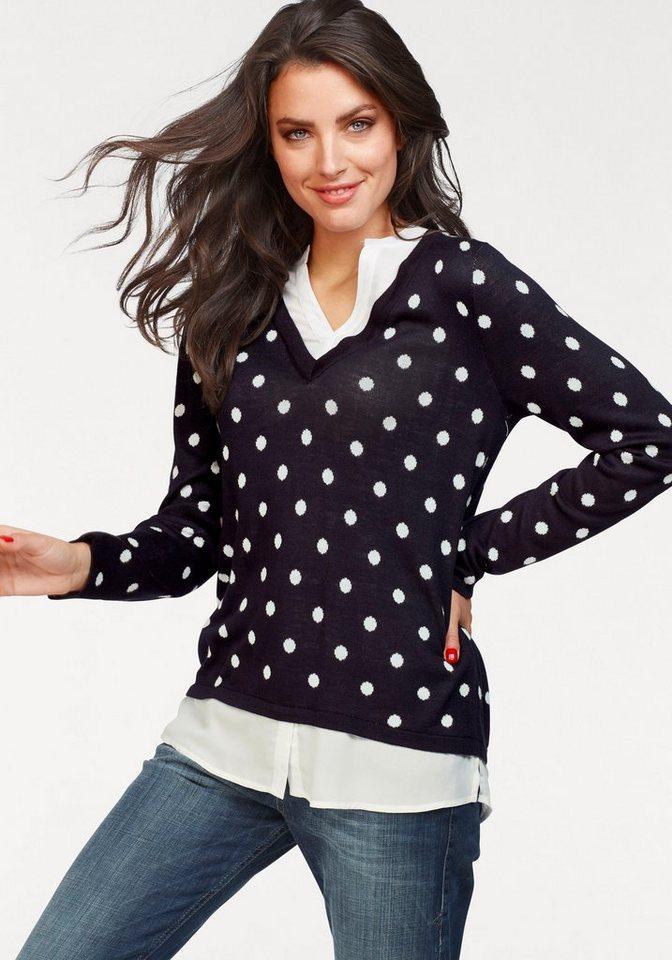 Vivance 2-in-1-Pullover in effektvollem Lagen-Look   Bekleidung > Pullover > 2-in-1 Pullover   Blau   Vivance