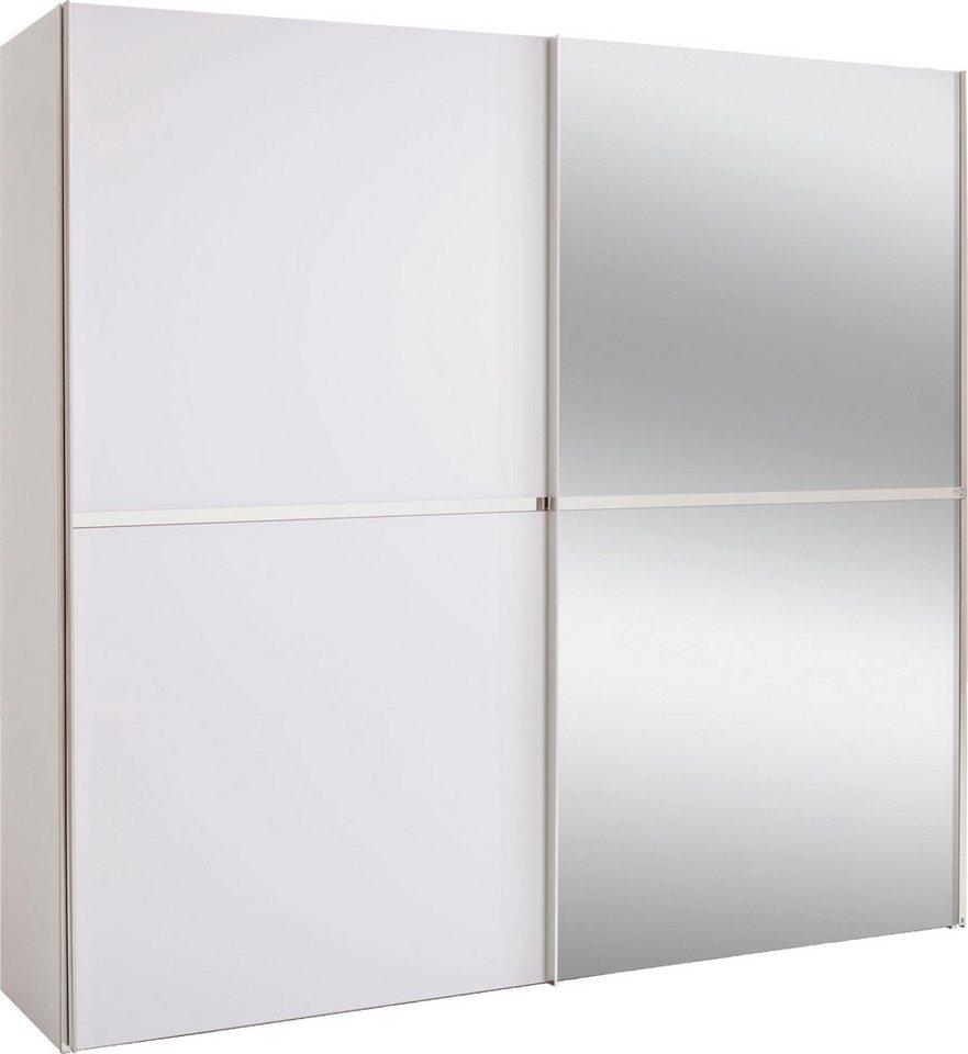 set one by Musterring Schwebetürenschrank dayton mit Dekorfront und Spiegel in 3 Breiten weiß | 04060714348269
