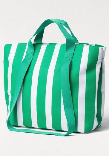 Esprit Shopper, im Streifendesign mit Innentaschen