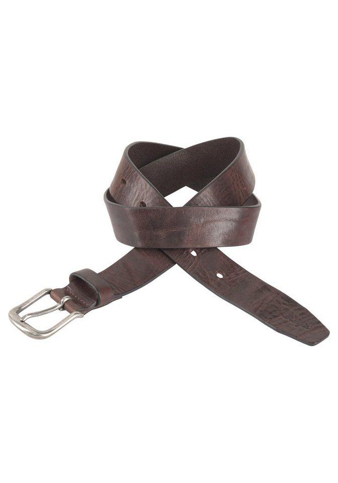 Herren Wrangler Ledergürtel Authentic Belt braun | 05400806222906