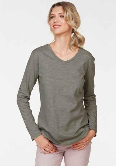 Langarmshirt in braun online kaufen   OTTO a4ce490eac