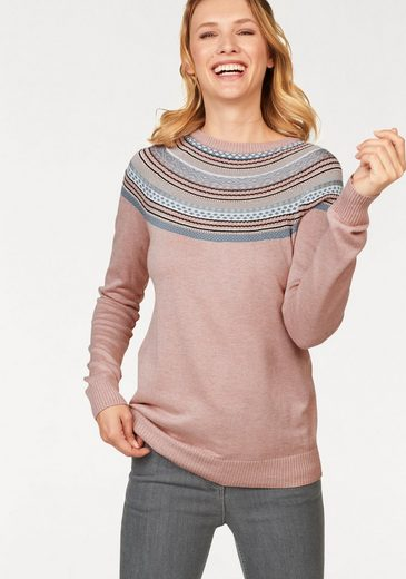 Aniston CASUAL Strickpullover mit Norweger-Muster
