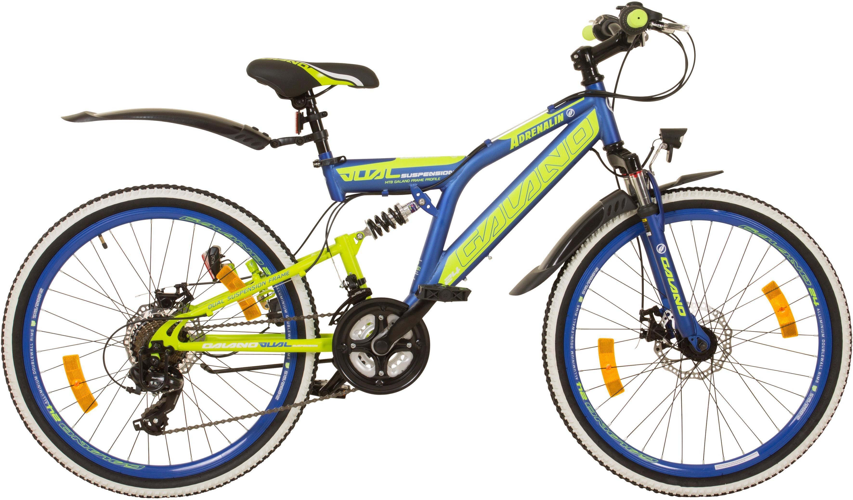 Galano Mountainbike »Adrenalin DS«, 21 Gang Shimano Tourney TX 35 Schaltwerk, Kettenschaltung