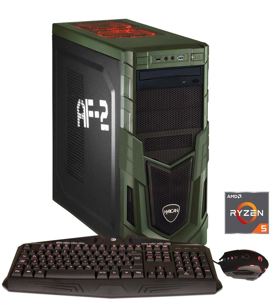 HYRICAN Gaming PC Ryzen™ 7 2700X, 16GB, SSD + HDD, GeForce® GTX 1060 »MilitaryGaming 5987«