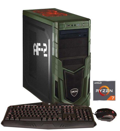 HYRICAN Gaming PC Ryzen™ 7 2700X, 16GB, SSD + HDD, GeForce® GTX 1070 »MilitaryGaming 5989«