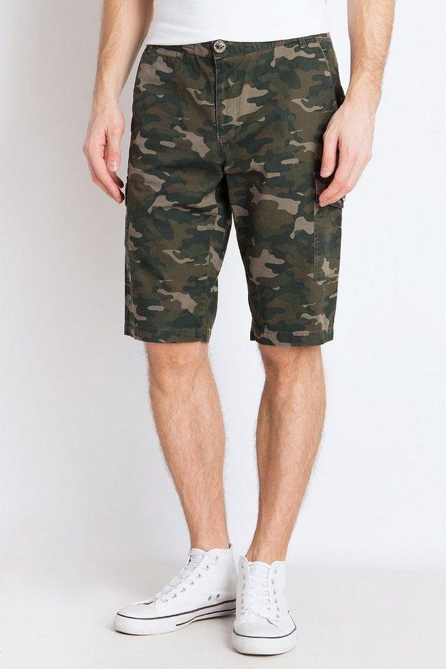 Herren Finn Flare Shorts im Military-Look grün | 06438157325587