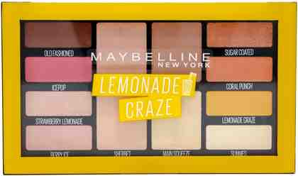 Maybelline New York, »Lemonade Bar Lidschatten-Palette in Nr. 01 Lemonade Craze«, Lidschatten-Palette