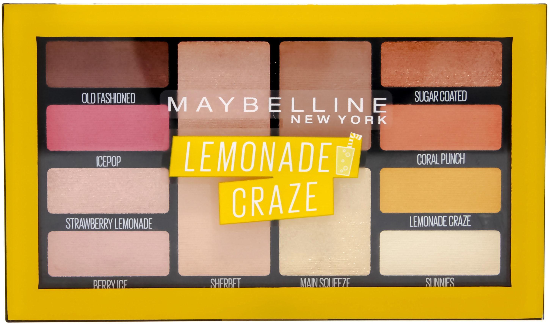 Maybelline New York, »Lemonade Bar Lidschatten-Palette in Nr. 01 Lemonade Craze«, Lidschatten-Palette