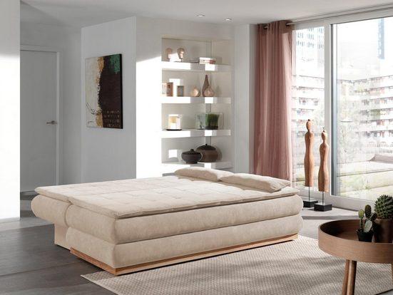 Home affaire Schlafsofa »Taurus«, mit Bettkasten, Federkern und Holzrahmen unten