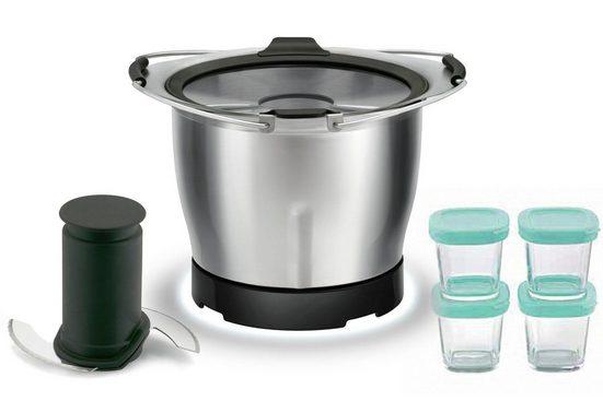 Krups Küchenmaschinenschüssel »Prep&Cook XF555E«, Edelstahl, Zubehör passend für alle Prep&Cook Produkte