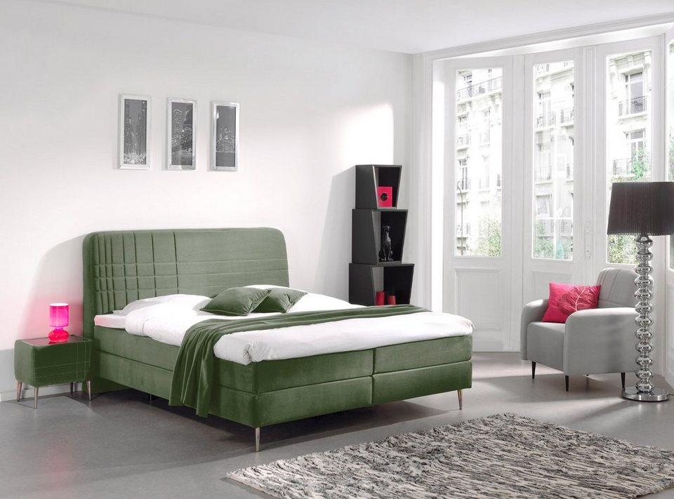 inosign boxspringbett gemini 180 200 cm incl topper in 2 h rtegraden online kaufen otto. Black Bedroom Furniture Sets. Home Design Ideas
