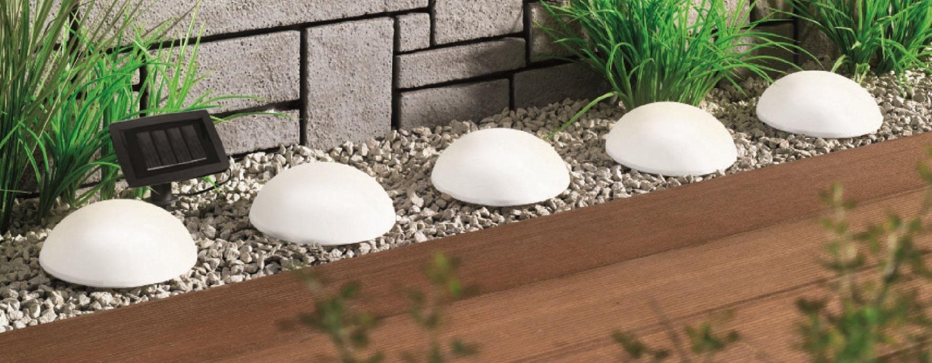 LED Gartenleuchte »Solar Halbkugeln - 5er-Set«, mit separatem Solarpanel