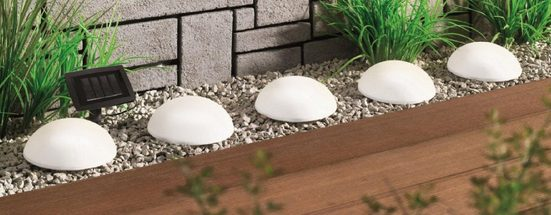 BONETTI LED Gartenleuchte »Solar Halbkugeln - 5er-Set«, mit separatem Solarpanel