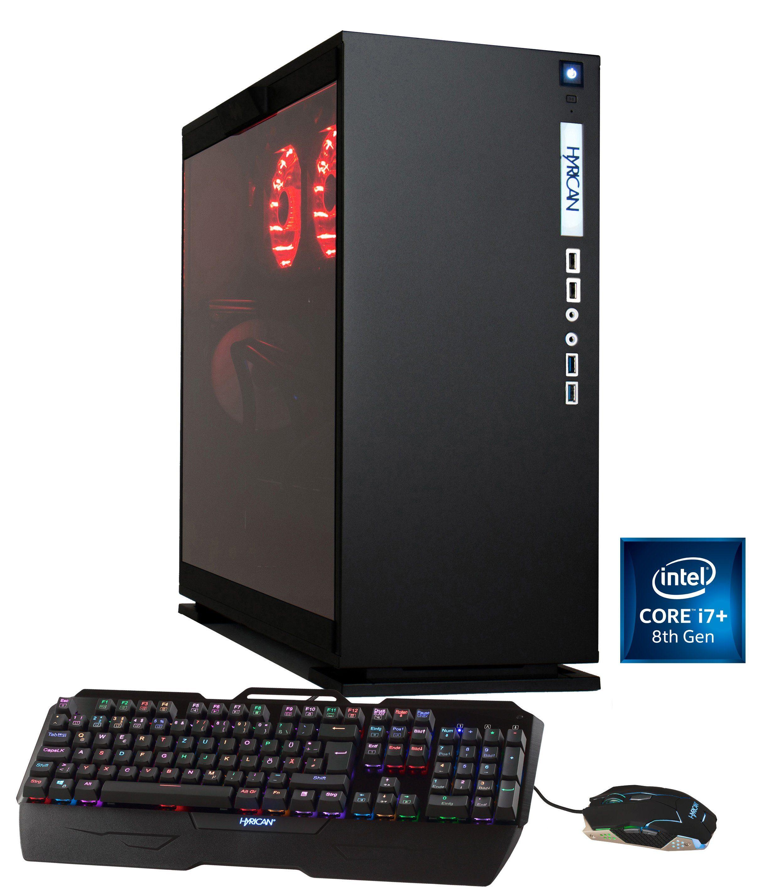 HYRICAN Gaming PC i7-8086K 32GB 500GB SSD, HDD + Optane, GTX 1070 Ti »Elegance Anniversary 5976«