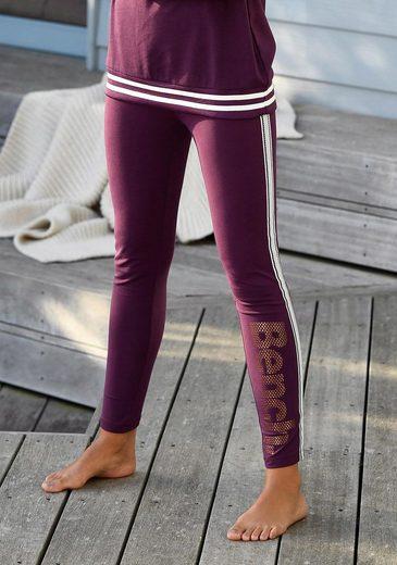 Bench. Leggings mit Logodruck in Metalloptik