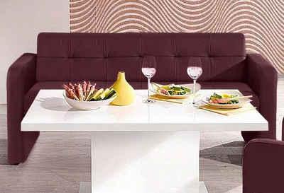 exxpo - sofa fashion Hockerbank, mit Rückenlehne