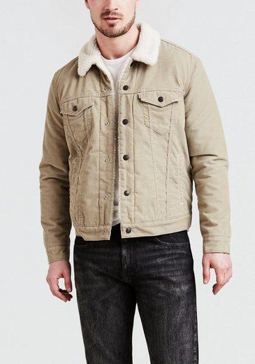 Levi's® Jeansjacke »TYPE 3 SHERPA TRUCKER« mit Fellimitat