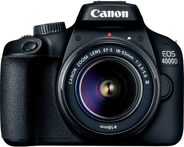 Spiegelreflexkameras - Canon »EOS 4000D 18 55mm III« Spiegelreflexkamera (EF S 18 55mm f 3.5 5.6 III, 18 MP, WLAN (Wi Fi)  - Onlineshop OTTO