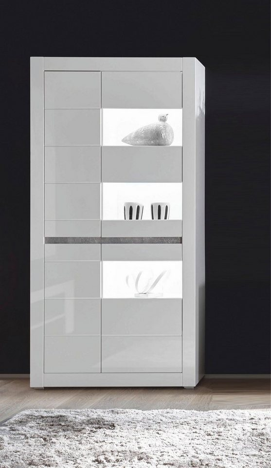 Vitrine Carat  Höhe 198 cm weiß | 04054574065022