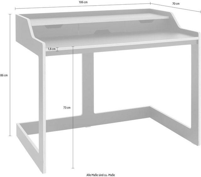 Schreibtische - Müller SMALL LIVING Sekretär »PLANE«, praktisch für kleine Räume  - Onlineshop OTTO